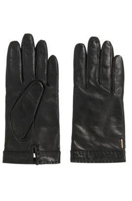 'Garuni' | Lambskin Leather Gloves, Black