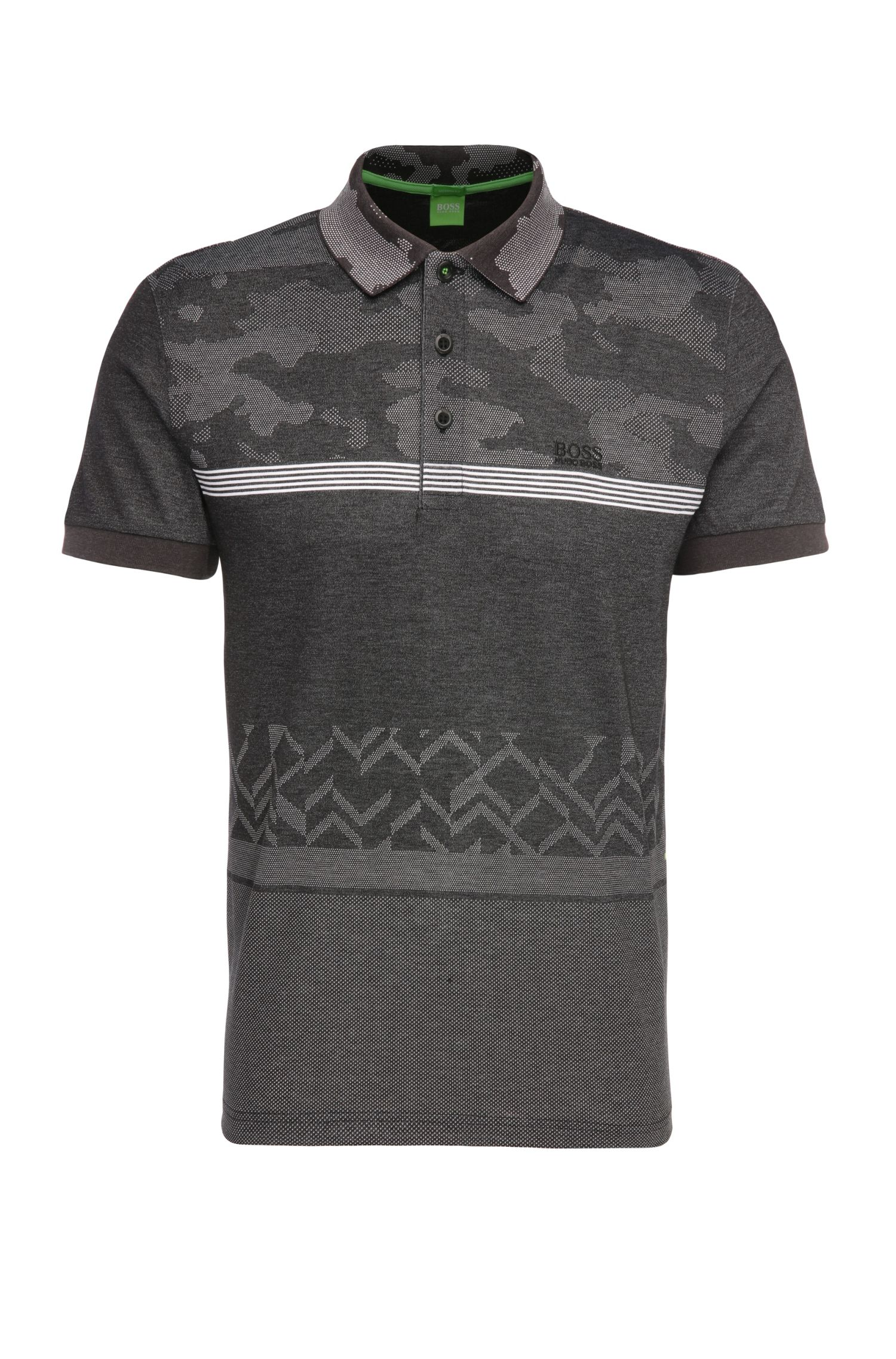 'Paddy' | Modern Fit, Cotton Blend Mixed Pattern Polo