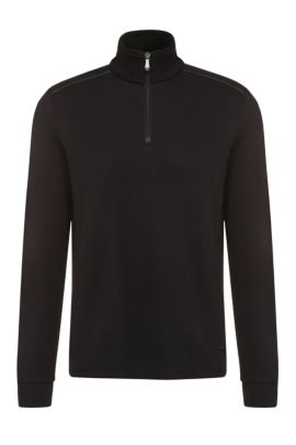'C-Piceno' | Cotton Troyer Sweater, Black
