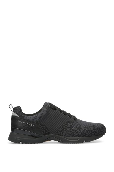 BOSS Hugo Boss Knit Upper Sneaker Velocity Runn Sykn 13 Black 2018 Newest Enjoy For Sale 2018 Unisex Sale Online Big Sale Wholesale Online 64yBITpQ
