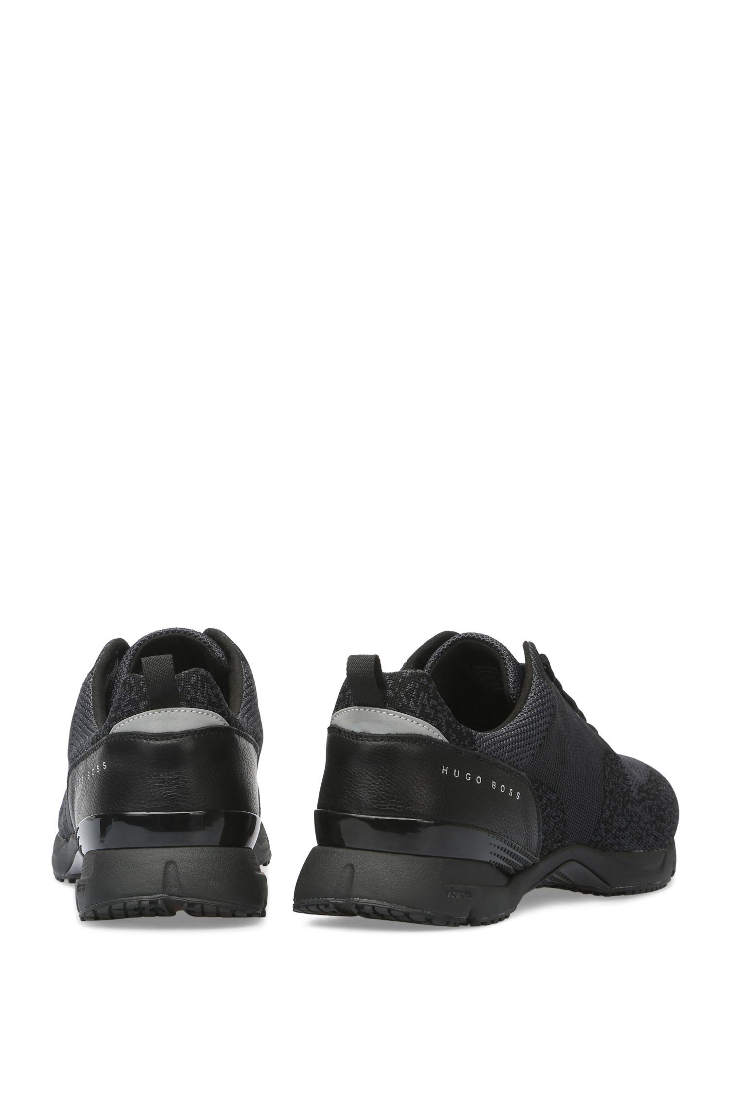 BOSS Hugo Boss Knit Upper Sneaker Velocity Runn Sykn 13 Black