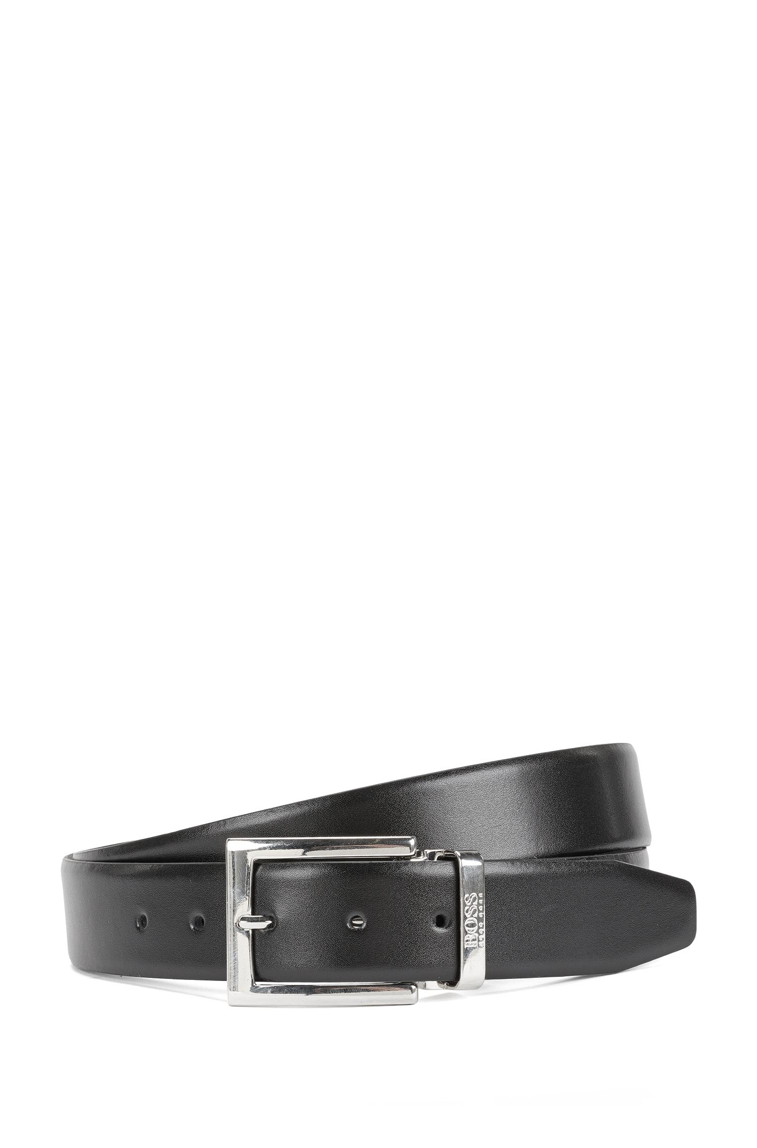Leather Handcrafted Reversible Belt | Otravely Or35 Ps, Black