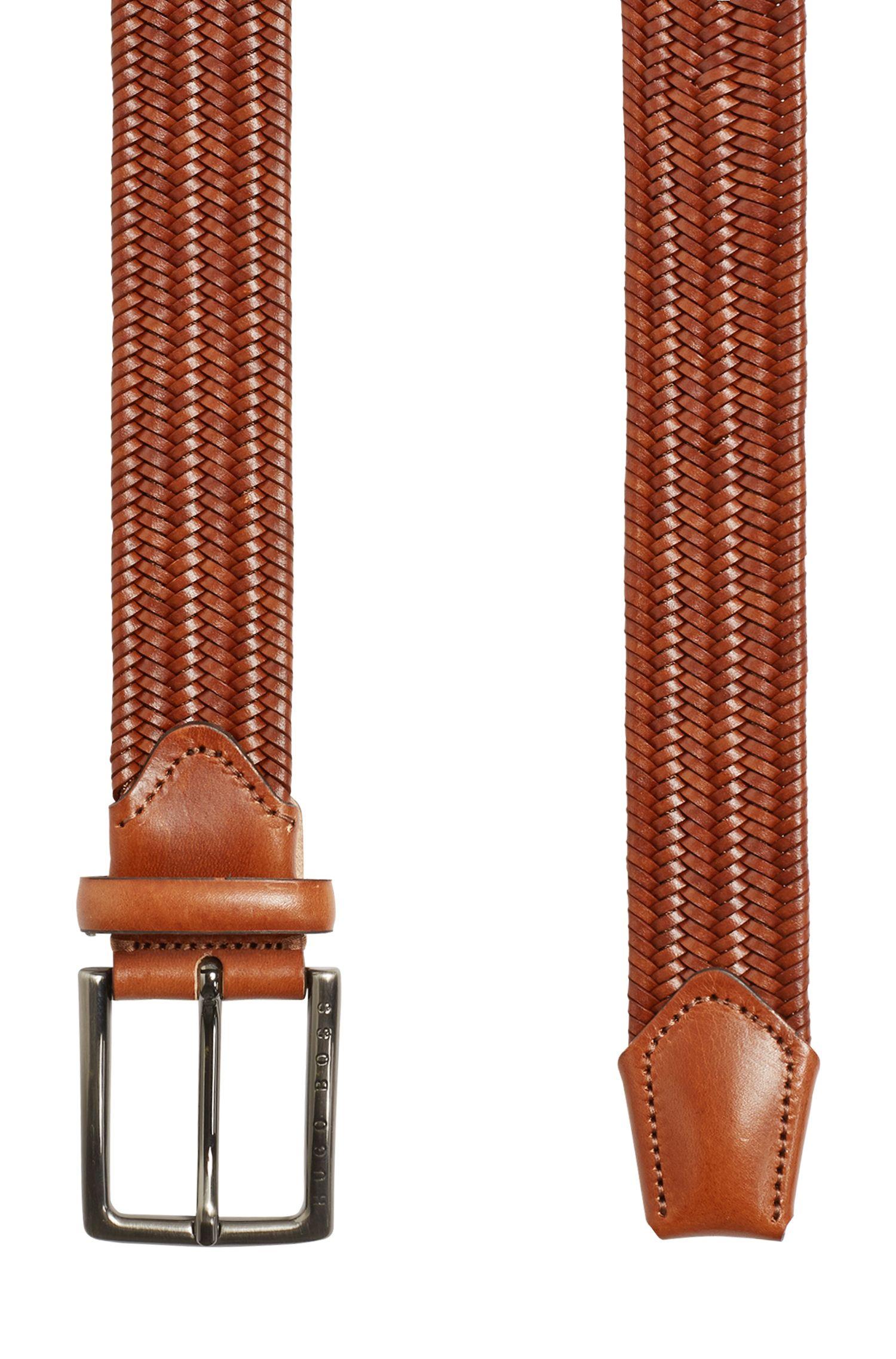 Leather Handcrafted Braided Belt | Semyo Sz35 Mxwn