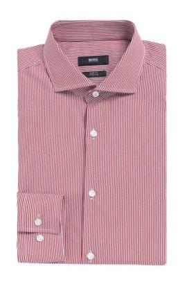 Stretch Cotton Dress Shirt, Slim Fit   Jason, Red