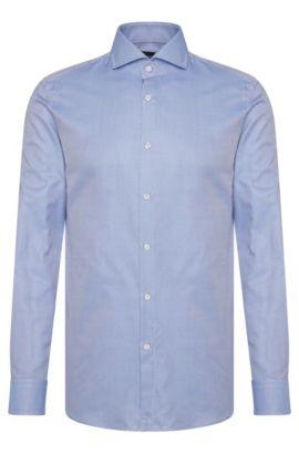 'T-Christo' | Slim Fit, Italian Cotton Dress Shirt, Blue