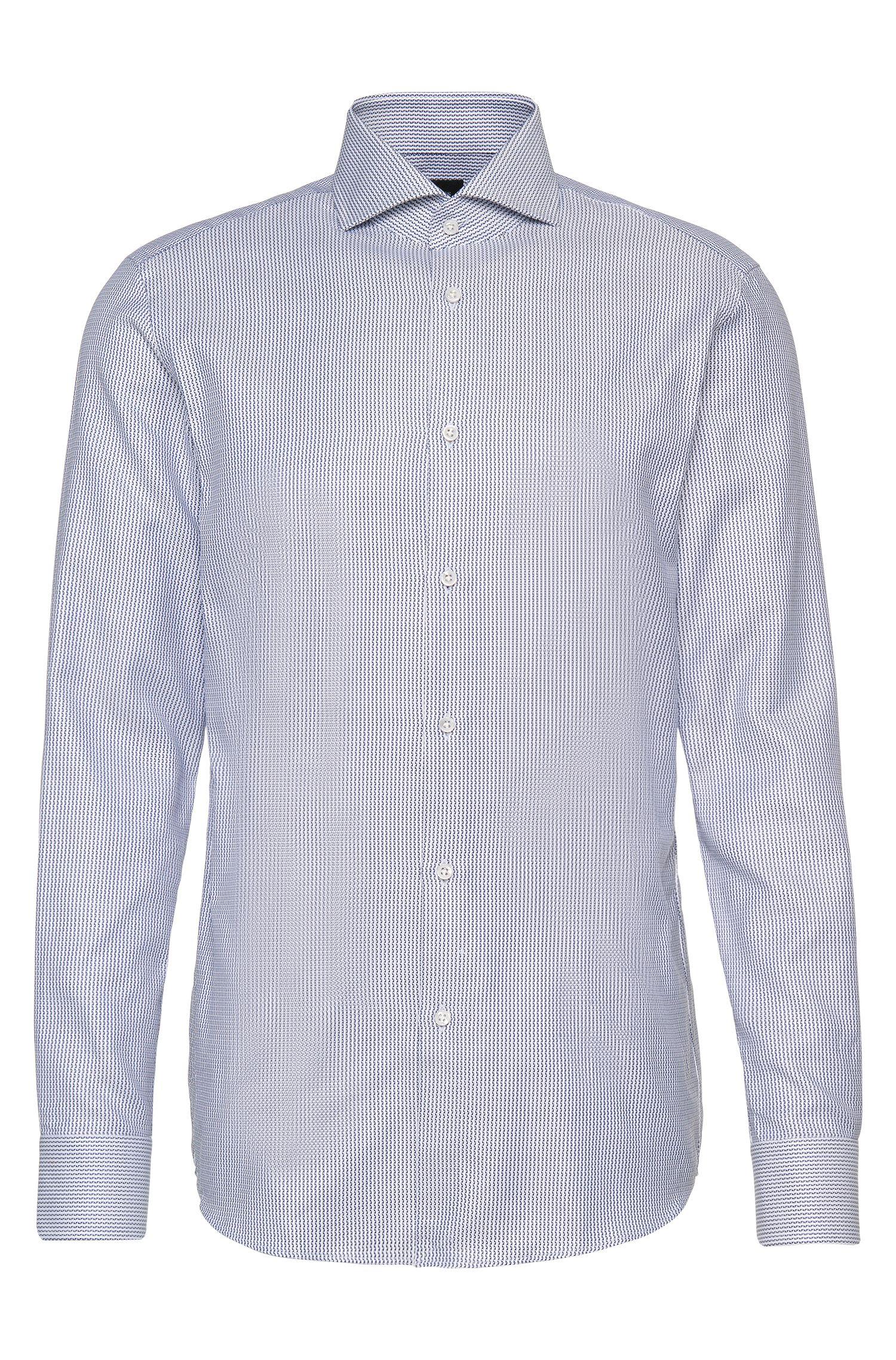 Striped Italian Cotton Dress Shirt, Slim Fit | T-Christo