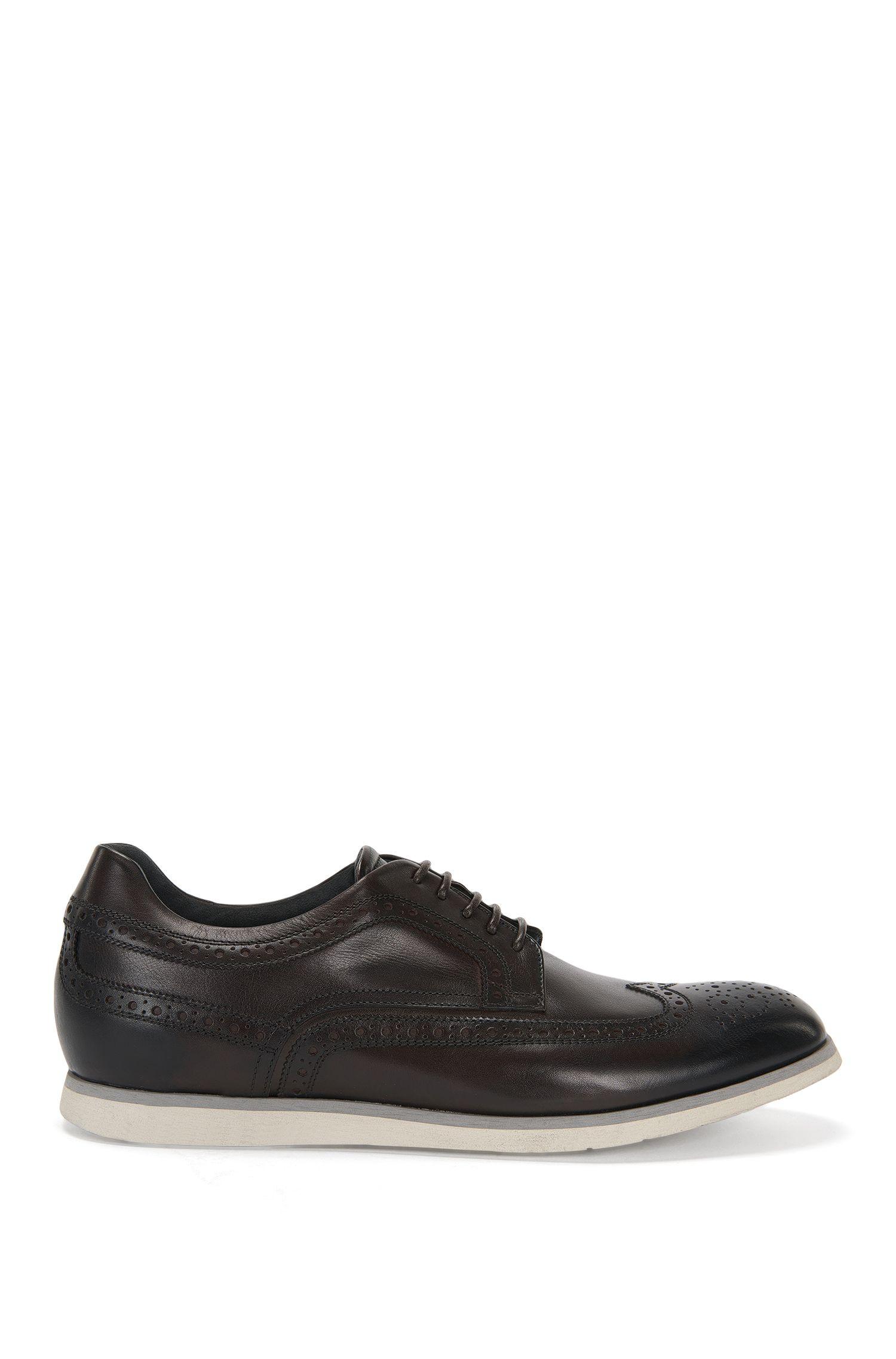 'Pegaso Derb Itwtb' | Italian Calfskin Brogue Derby Shoes