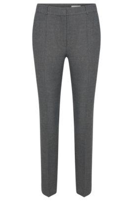 'Acnes' | Stretch Virgin Wool Blend Melange Trousers, Open Grey