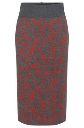 'Emkara' | Cotton Blend Knit Pencil Skirt, Patterned