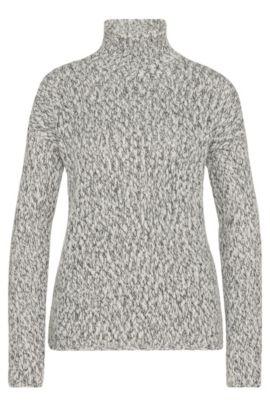 'Starly'   Wool Blend Mock Turtleneck, Patterned