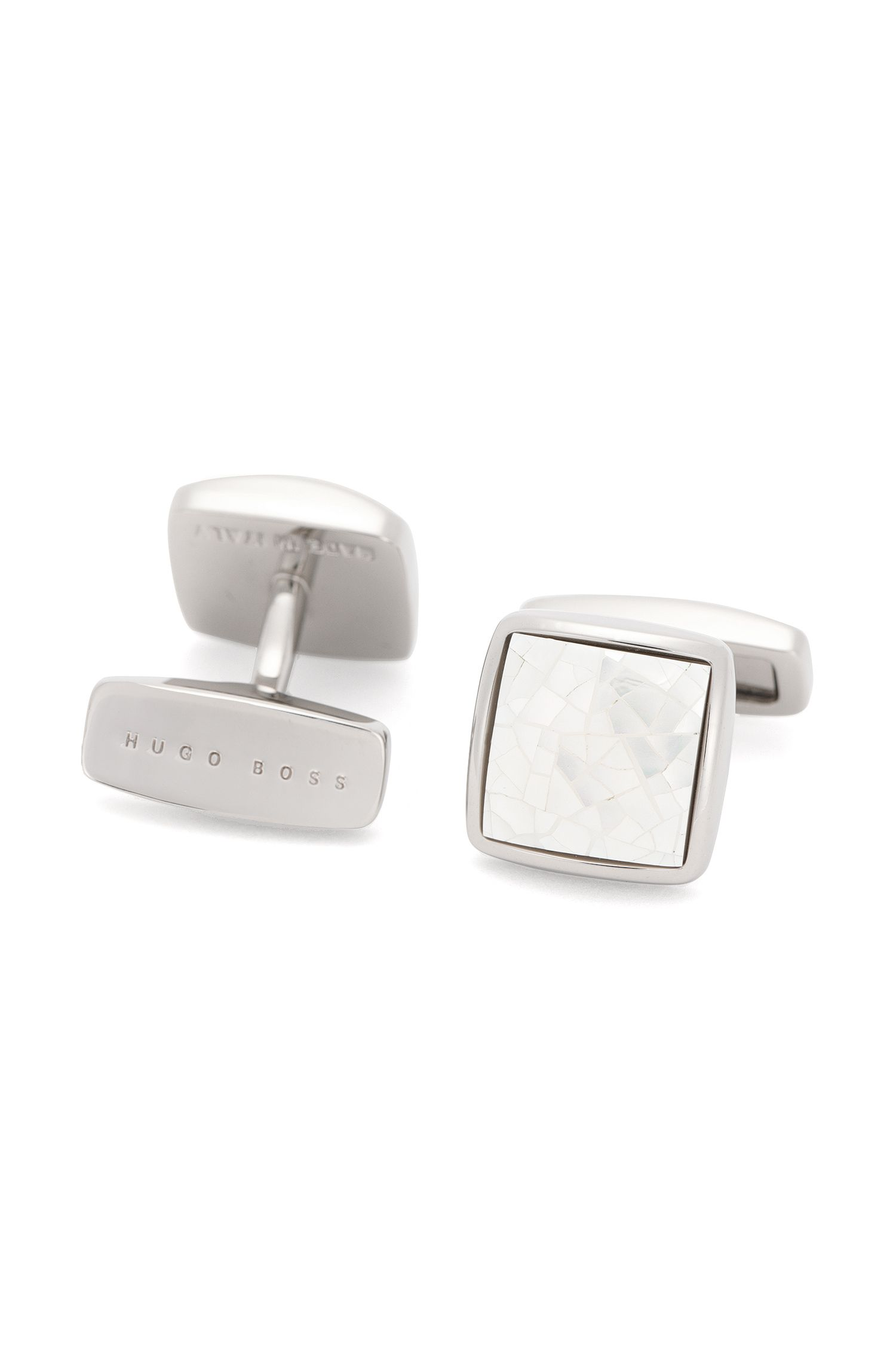 'T-Raimar' | Brass Mother Of Pearl Cufflinks