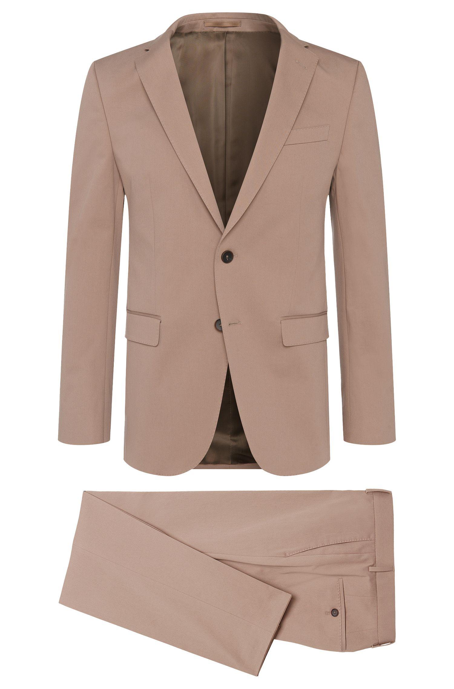 Stretch Cotton Suit, Slim Fit   Novan/Ben