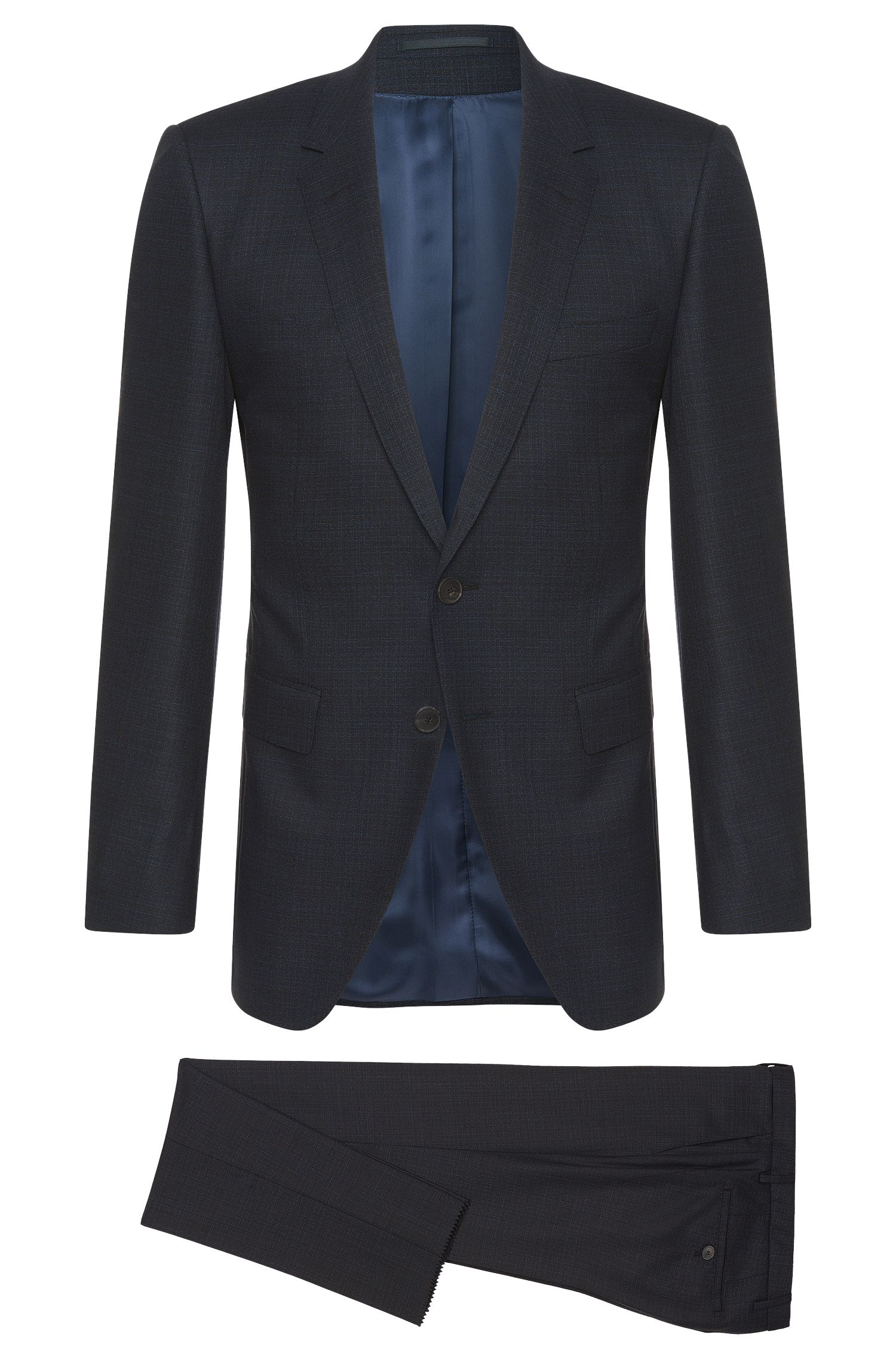 Crosshatch Super 150 Italian Wool Suit, Extra-Slim Fit | T-Reeve/Wain