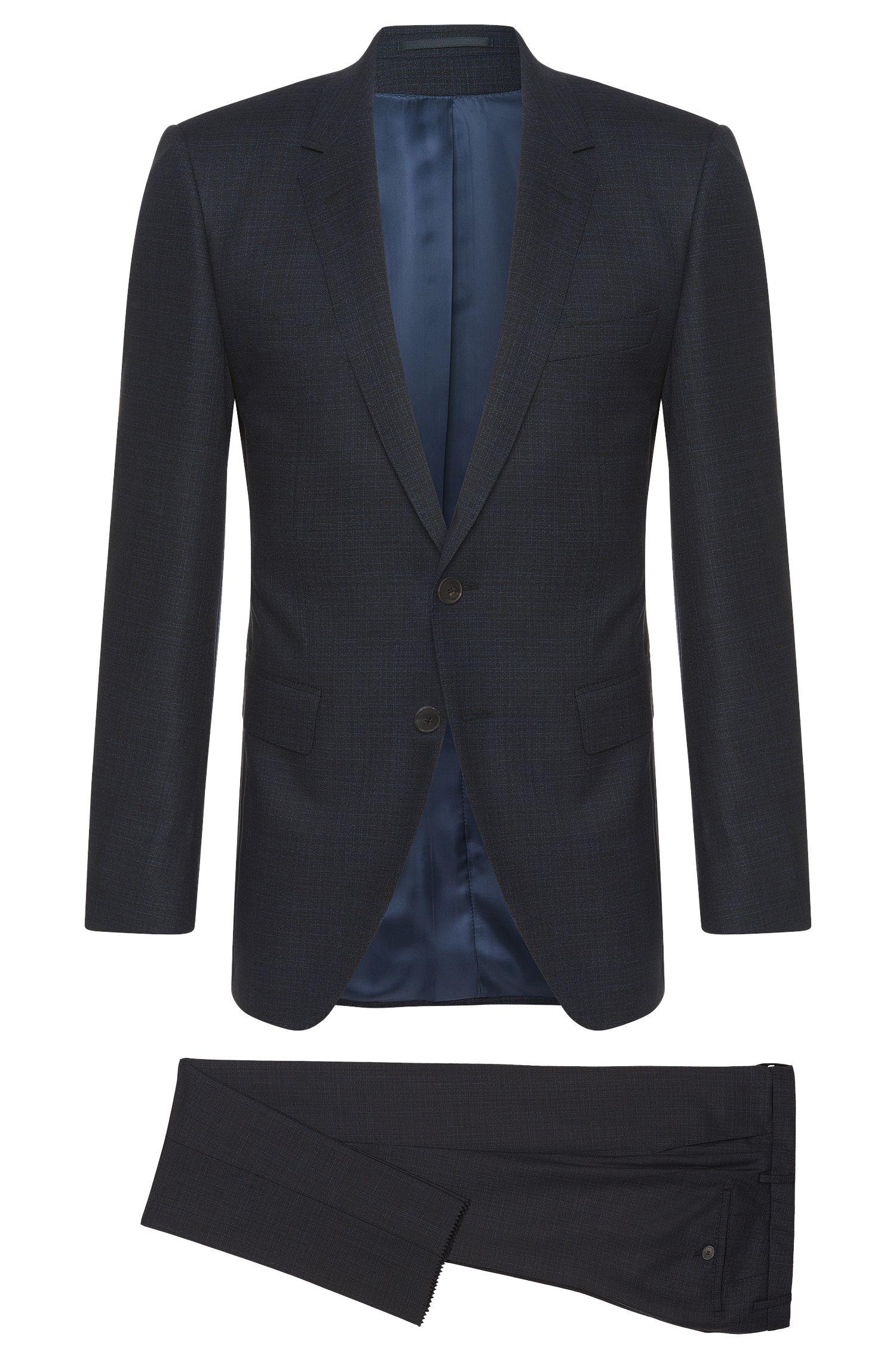 Crosshatch Super 150 Italian Wool Suit, Extra-Slim Fit | T-Reeve/Wain
