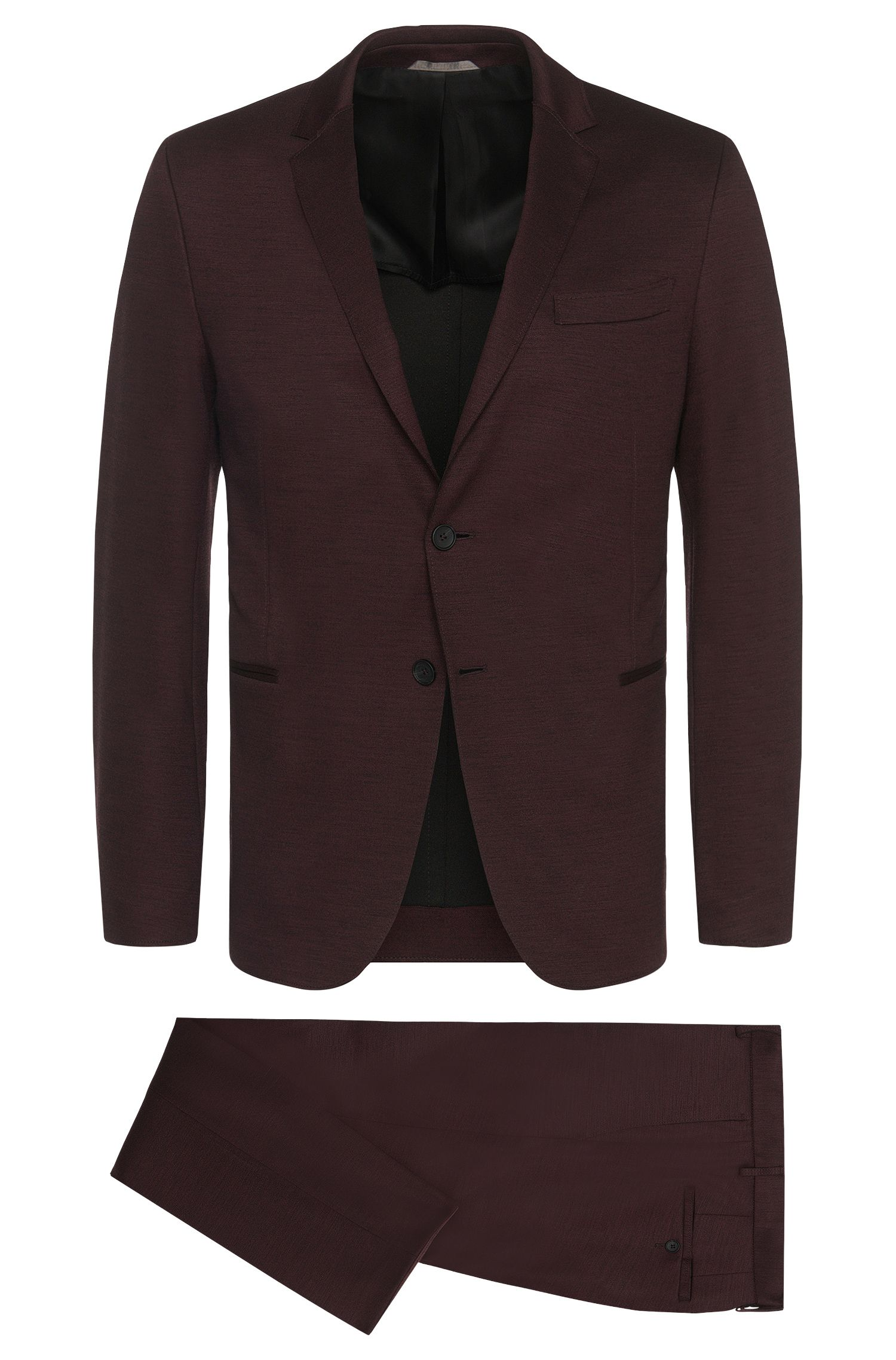 Stretch Virgin Wool Blend Jersey Suit, Slim Fit | Natan/Bruce