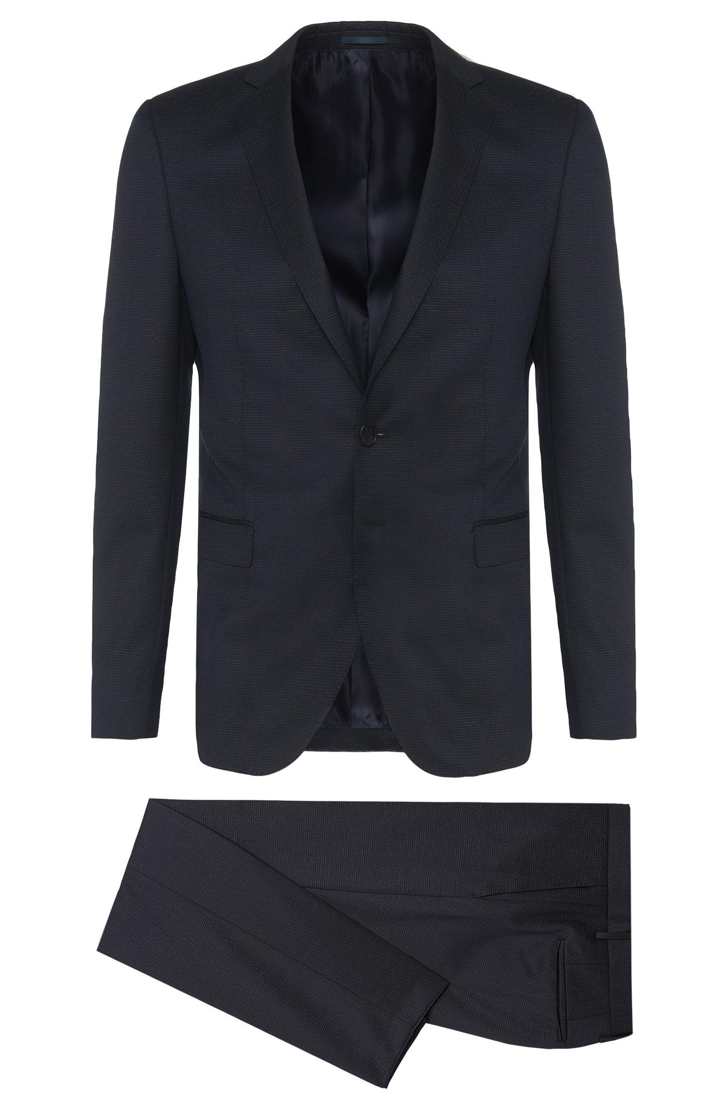 Subtle Stripe Virgin Wool Suit, Extra Slim Fit | Rocco/Wyatt