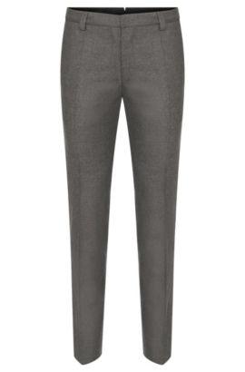 'Alec' | Slim Fit, Stretch Virgin Wool Cashmere Dress Pants, Grey