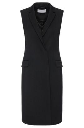 'Karana'   Wool Blend Vest, Black