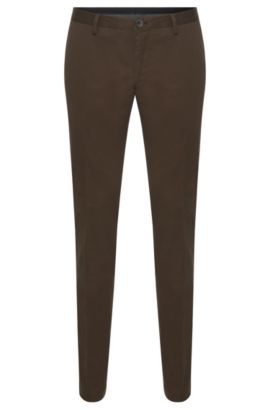 'Stanino-W' | Slim Fit, Stretch Cotton Chino Pants, Khaki