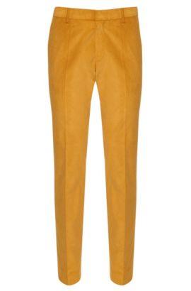 'Genesis' | Slim Fit, Stretch Cotton Corduroy Pants, Yellow