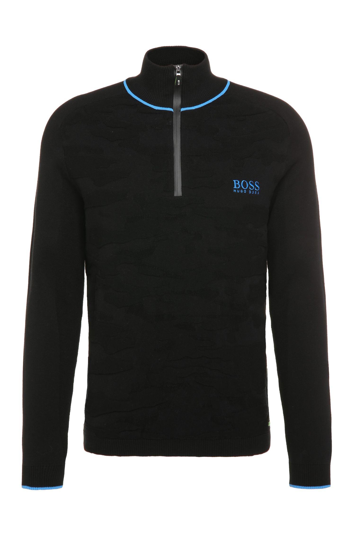 'Zayo MK FW16' | Stretch Cotton Blend Troyer Sweater