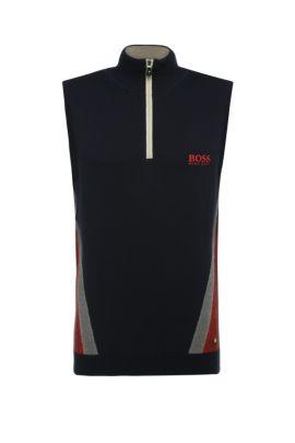 'Zagi Pro W16' | Stretch Cotton Blend Sweater Vest, Dark Blue