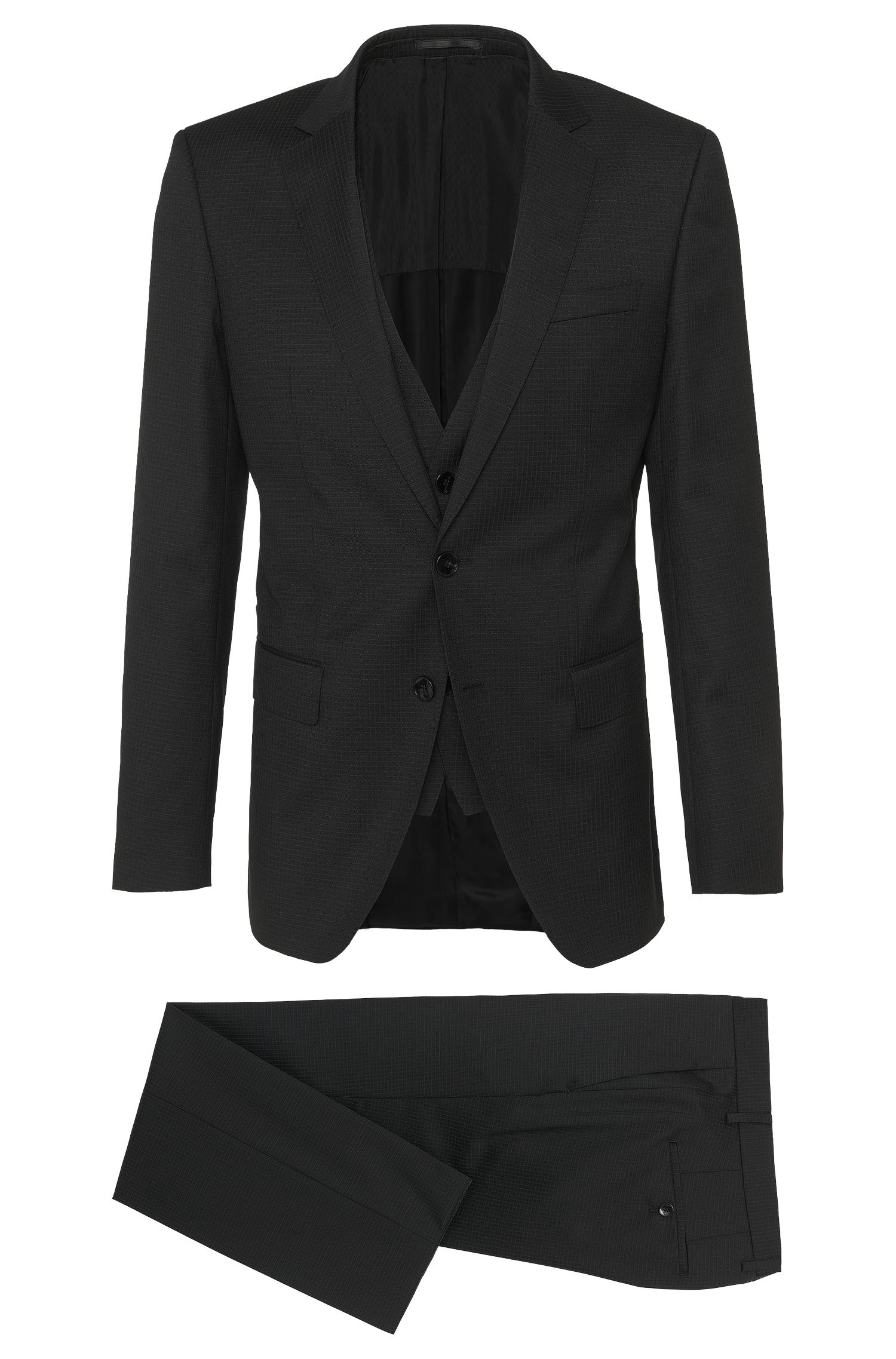 Super 100 Virgin Wool 3-Piece Suit, Slim Fit | Huge/Genius WE