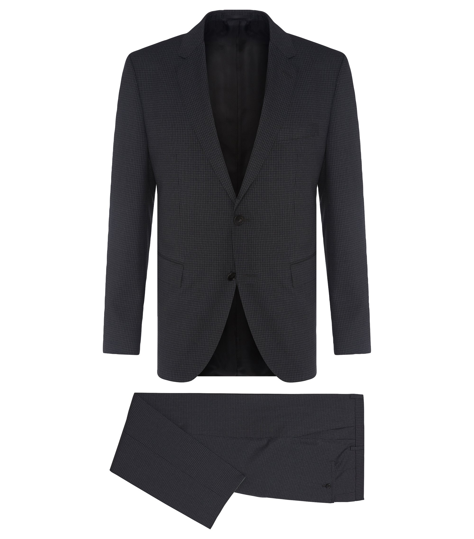 Italian Virgin Wool Suit, Regular Fit | Johnstons/Lenon, Charcoal