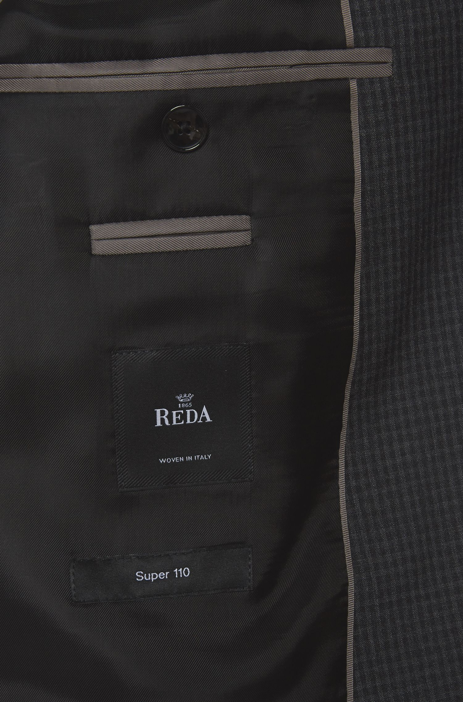 Italian Virgin Wool Suit, Regular Fit | Johnstons/Lenon, Charcoal