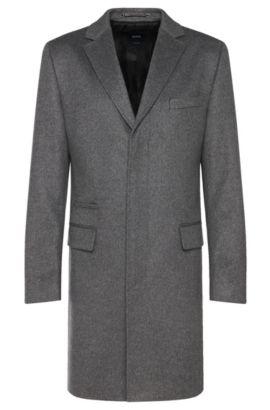 'T-Neon' | Italian Cashmere Car Coat, Grey
