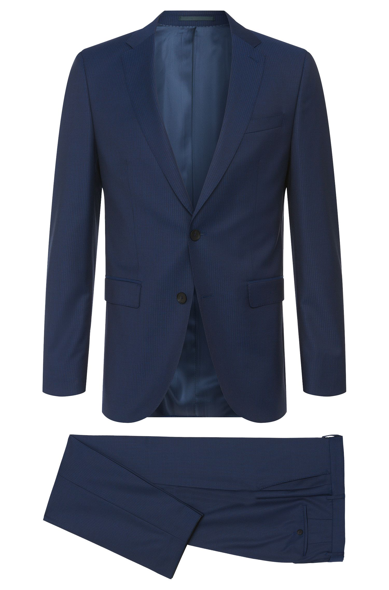 Striped Super 120 Italian Virgin Wool Suit, Slim Fit | Novan/Ben