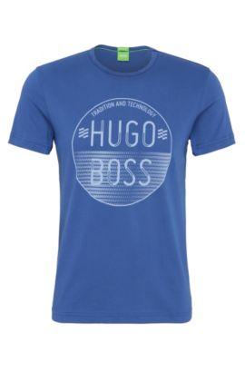 Logo Cotton Graphic T-Shirt | Logo, Open Blue