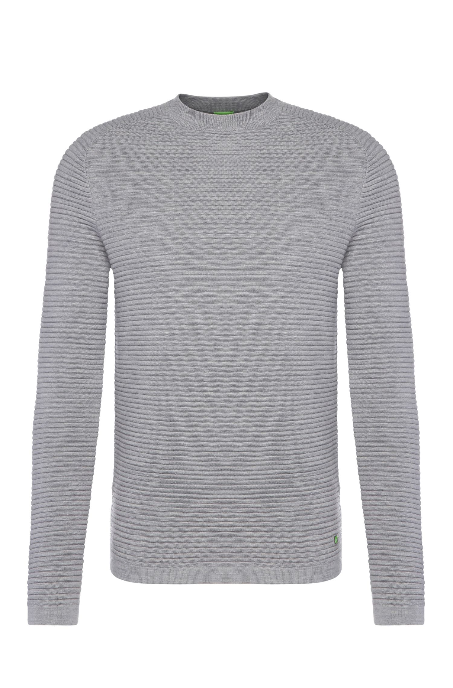 'Ree' | Virgin Wool Ottoman Rib Sweater