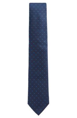 'Tie 7.5 cm'   Regular, Italian Silk Embroidered Tie, Light Blue