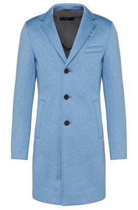 'Shawn' | Neoprene Car Coat, Light Blue