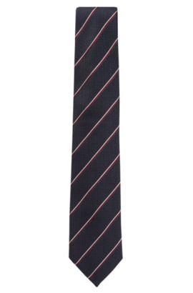 'Tie 7.5 cm' | Regular, Italian Silk Tie, Dark Blue