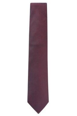 'Tie 7.5 cm' | Regular, Italian Silk Patterned Tie, Red