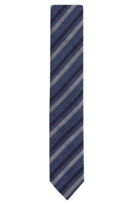'Tie 6 cm' | Slim, Italian Silk Woven Tie, Dark Blue