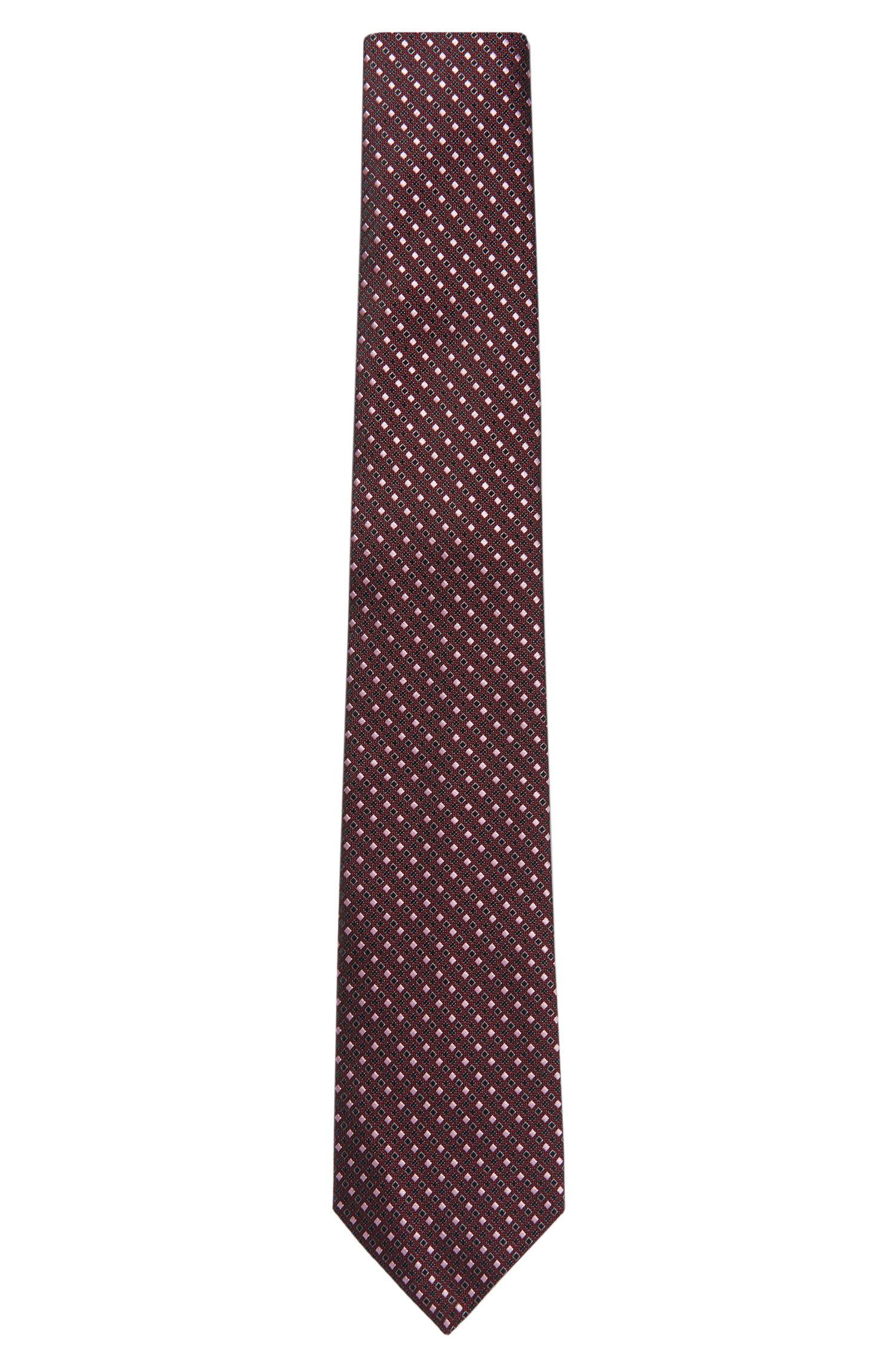 'T-Tie 7.5 cm' | Regular, Italian Silk Patterned Tie