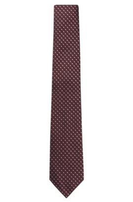 'T-Tie 7.5 cm' | Regular, Italian Silk Patterned Tie, Red