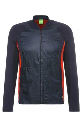 'Bann'   Cotton Nylon Jacket, Dark Blue