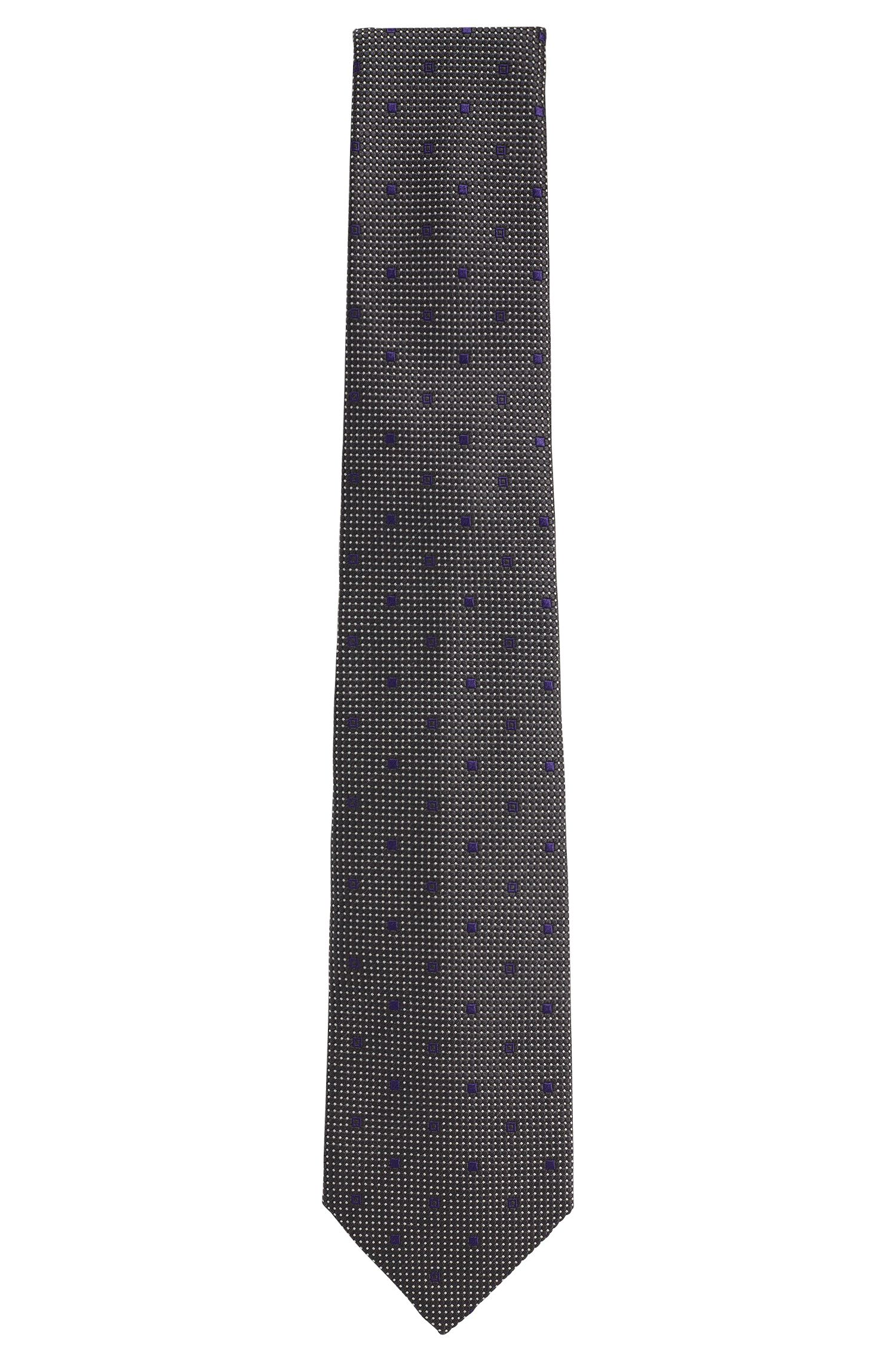 'T-Tie 7.5 cm'   Regular, Italian Silk Patterned Tie