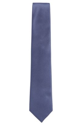 'Tie 7.5 cm'   Regular, Italian Silk Embroidered Tie, Open Purple