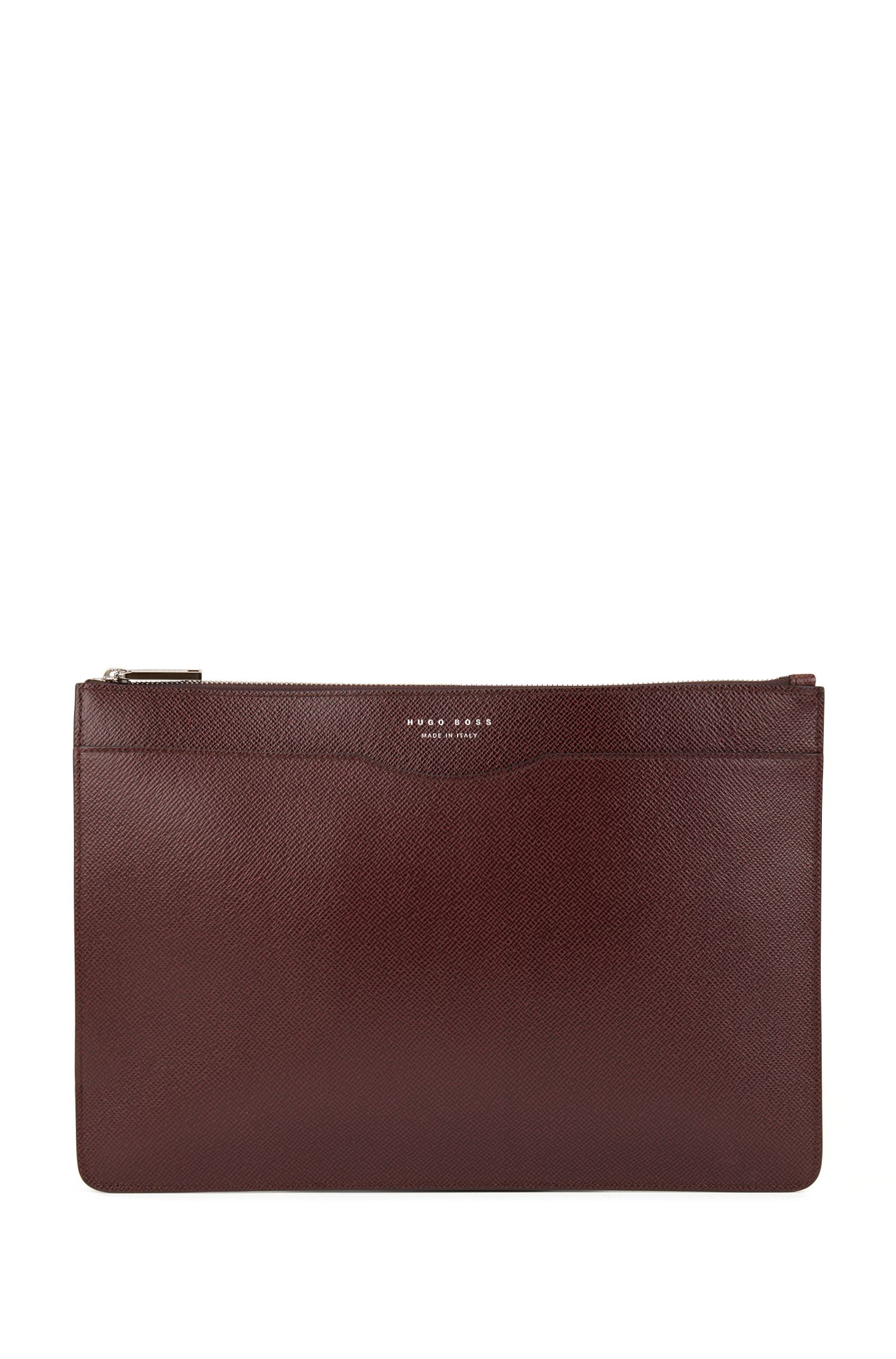 Signature Collection document case in palmellato leather, Dark Red