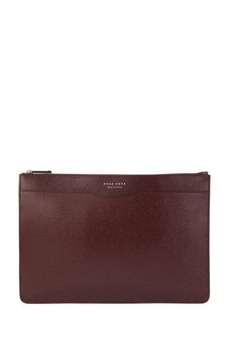 7dea3473bb3e1c Signature Collection document case in palmellato leather, Dark Red