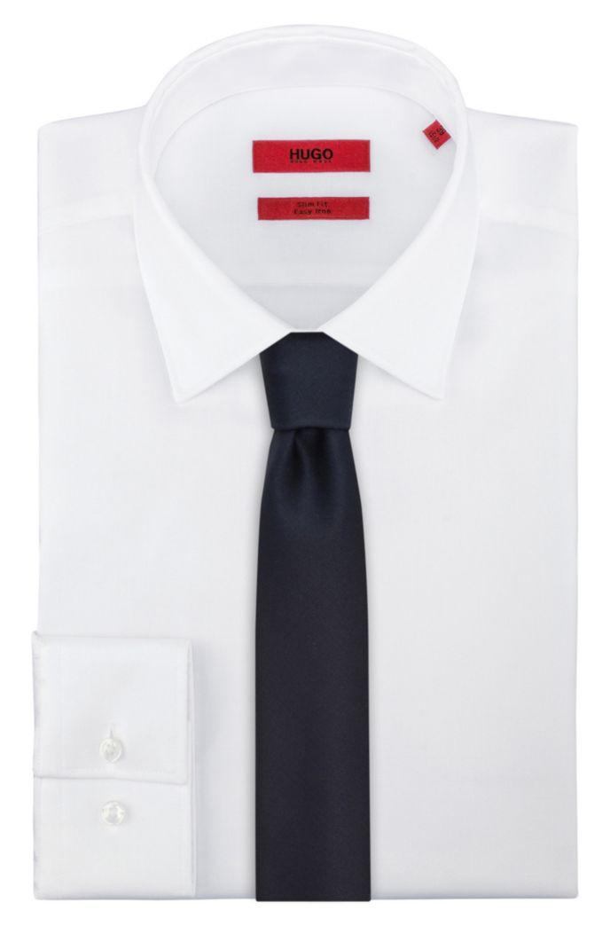 Solid-tone tie in virgin wool