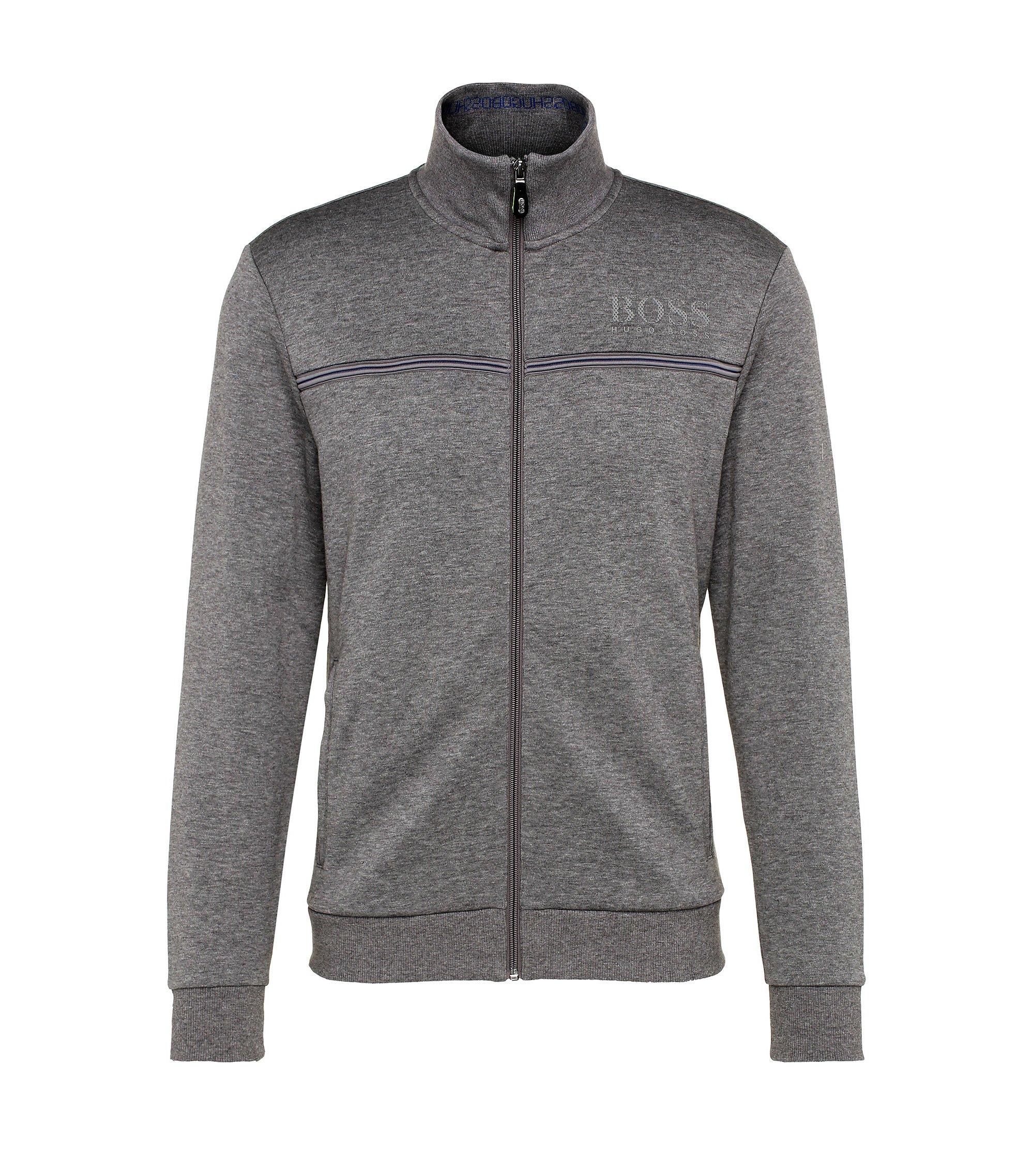 Stretch Nylon Sweat Jacket | Skaz, Grey