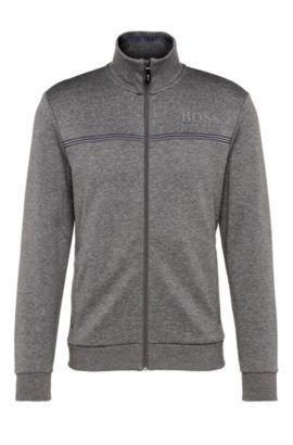 'Skaz' | Stretch Nylon Sweat Jacket , Grey