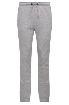 'Hadiko' | Cotton Blend Melange Sweatpants, Light Grey