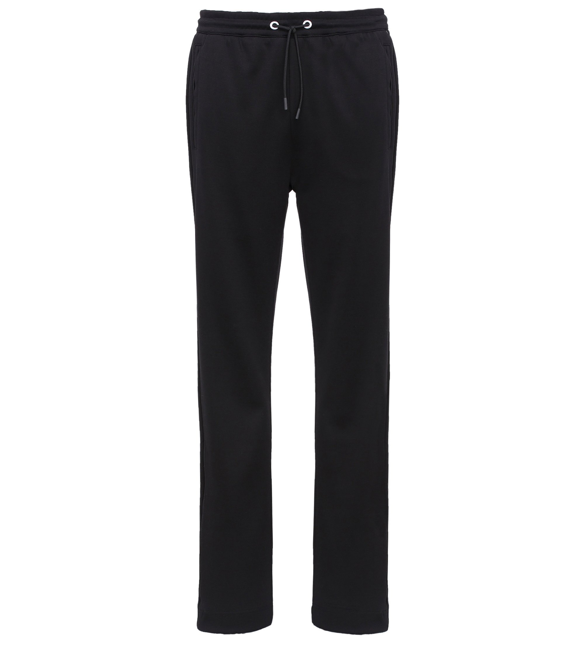Cotton Blend Drawstring Sweat Pant | Hadim, Black